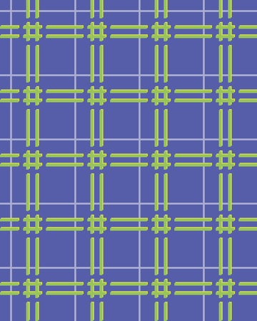 checkered volume: Abstract seamless checkered pattern with lattice. Volume optical effect. Blue, green, yellow colors