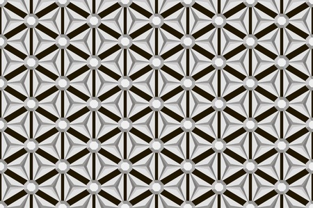 facets: Black and white seamless repetitive and reflecting diamond facets pattern. Volume optical effect