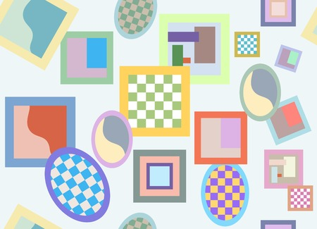 Bright Crazy Seamless Pattern Randomly Scattered Varicolored