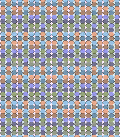 varicolored: Abstract seamless stained-glass pattern made of varicolored hexagons and rhombuses