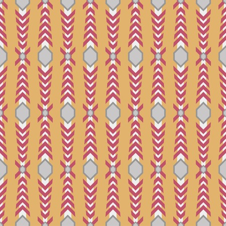 panoply: Seamless pattern with knight armor elements. Red, orange, white and gray colors
