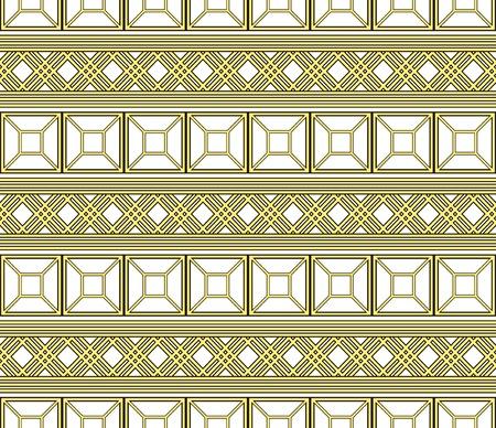 Seamless pattern of elegant openwork lattice in golden color Illustration
