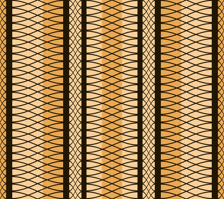 refine: Elegant seamless pattern of interlacing curves. Black and orange colors