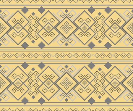 hellenic: Exquisite antique pattern. Ancient Hellenic seamless ornament. Sandy yellow and gray colors Illustration