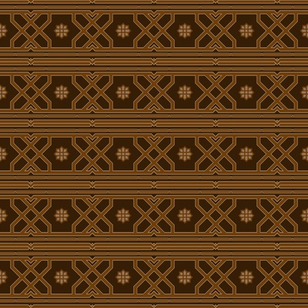 sumptuous: Luxurious seamless pattern in oriental style. Beautiful elegant print. Shades of brown color.