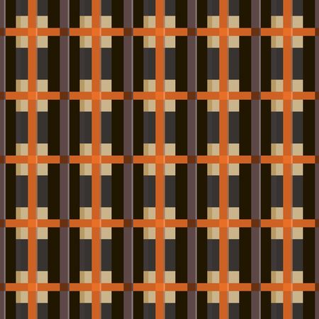 Abstract seamless braided pattern. Contrast checkered varicolored print. Optical illusion of volume