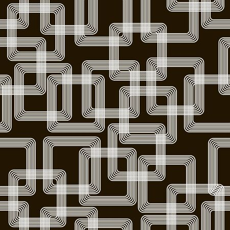 associated: Stylish modern black and white seamless pattern associated with the metal tracks on a printed circuit board
