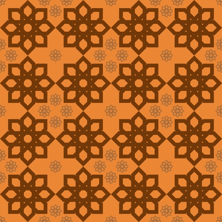 lordly: Luxury fiery orange floral pattern in oriental style. Vector illustration for various creative projects Illustration