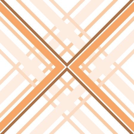 fabric design: Abstract geometric seamless pattern of intersecting bands. Nice warm shades. Contrasting fashionable backdrop in orange and brown colors