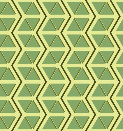 multidirectional: Beautiful seamless pattern of zigzags and triangles in yellow and shades of green color. Modern print for various creative projects
