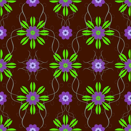 green floral: Beautiful seamless floral pattern. Fairy underwater flowers. Vector illustration to create unusual creative design
