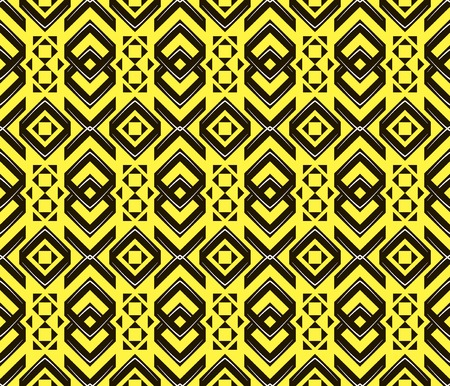 contrasting: Abstract seamless geometric pattern in modern style. Contrasting fashionable backdrop in yellow, black, white colors