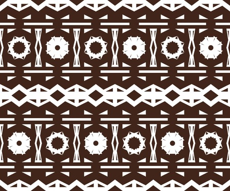 ligneous: Beautiful seamless print with carved elements. Unusual contrasting pattern. Brown and white colors