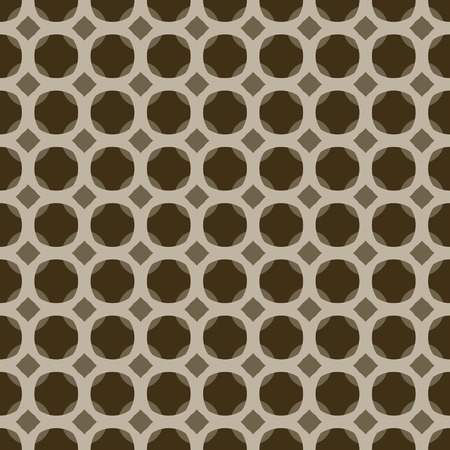 Abstract seamless cellular pattern. Brown, marsh, beige colors Illustration