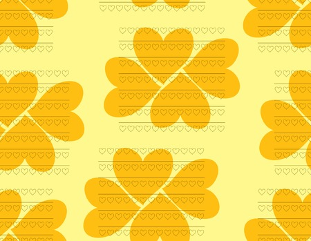 sweet mustard: Beautiful seamless pattern of hearts in orange and yellow colors. Vector illustration for various creative projects Illustration