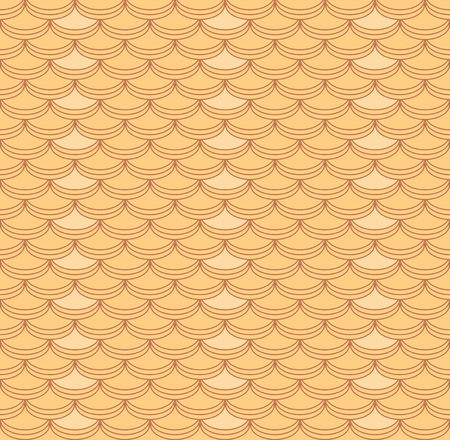 Abstract seamless squama pattern of rounded tiles. Vector illustration for various creative projects