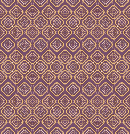 roundish: Abstract seamless geometric pattern. Contrast backdrop. Orange and plum colors. Vector illustration for various creative projects
