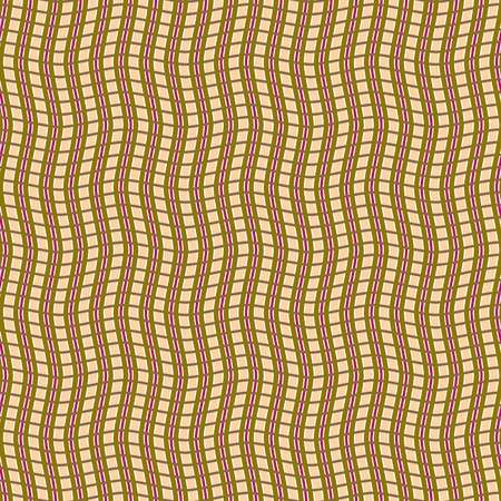 gnarled: Abstract seamless pattern of intertwining wavy stripes. Visual illusion of hilly surface. Vector illustration for various creative projects