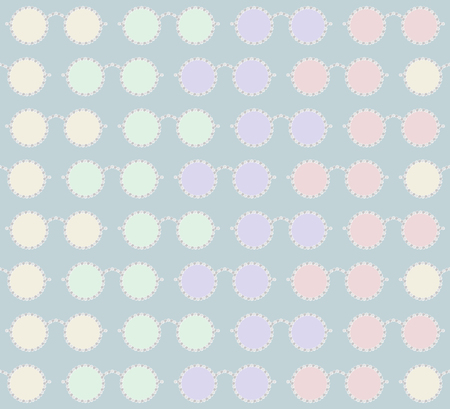 rim: Stylish seamless pattern of sunglasses with rim of round beads. Yellow, green, lilac, pink, pastel colors. Vector illustration for beautiful fashion design
