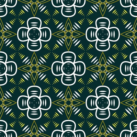 contrasty: Abstract seamless geometric contrasty pattern. Fantasy space flowers. Vector illustration for various creative projects Illustration