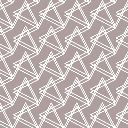 pleasant: Abstract seamless pattern. The broken line forms triangles. Pleasant light grey brown and white colors. Vector illustration for stylish creative design