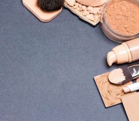 Close-up of cosmetics equipment Banque d'images