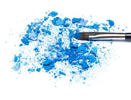 soften: Mixed crushed compact blue eyeshadow