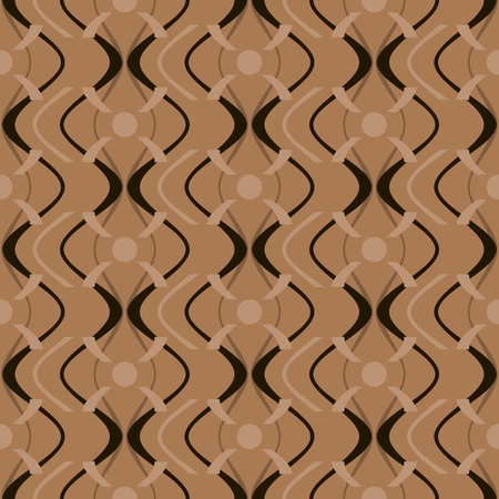 ripply: Abstract elegant seamless geometric pattern in black and brown colors Illustration