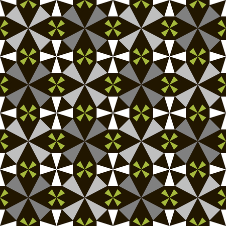 four pattern: Seamless geometric pattern of abstract four petals flowers.  Illustration