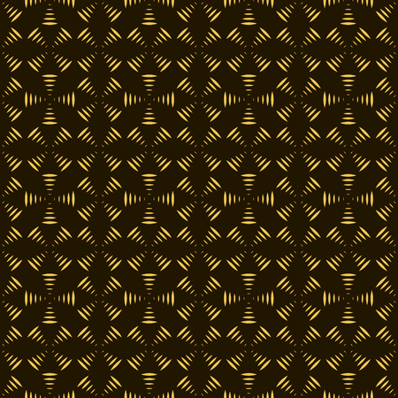 airwaves: Abstract seamless pattern of geometric shapes forming propellers. Black and yellow colors. Vector illustration for stylish creative design
