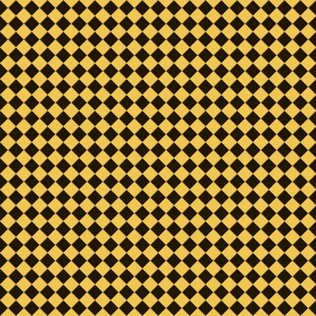 cellule: Seamless checkered chess pattern in yellow, black and brown colors. Checkerboard style print. Vector illustration for various creative projects