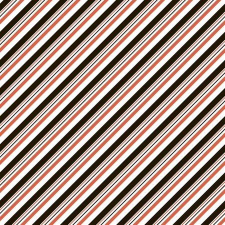 varying: Abstract seamless striped pattern of diagonal parallel varying thickness lines. Endless geometric print in black, white and red colors. Beautiful contrasting background. Vector illustration