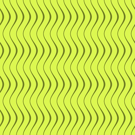 undulating: Elegant seamless pattern of curved lines in green colors. Beautiful abstract endless print of wavy varying thickness stripes. Vector illustration Illustration