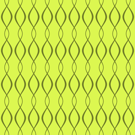 varying: Elegant seamless pattern of curved interlacing lines in green colors. Beautiful abstract endless print of wavy varying thickness stripes. Graceful contrasting background. Vector illustration Illustration