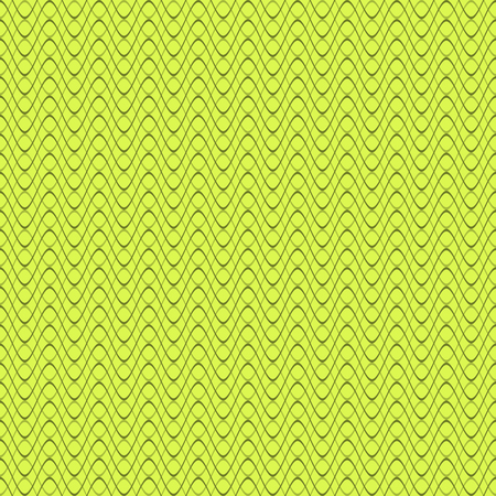 Abstract seamless pattern of horizontal wavy lines in green colors. Beautiful endless print of curved varying thickness stripes. Vector illustration for various creative projects
