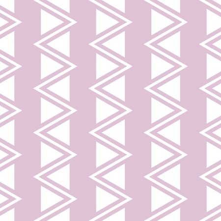 flexure: Elegant seamless pattern of vertical zigzag and triangles. Beautiful stylish zig zag print in white and pink colors. Vector illustration for various creative projects