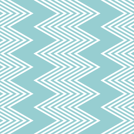 flexure: Elegant seamless pattern of white and blue vertical zigzag. Beautiful zig zag print cyan color. Vector illustration for various creative projects