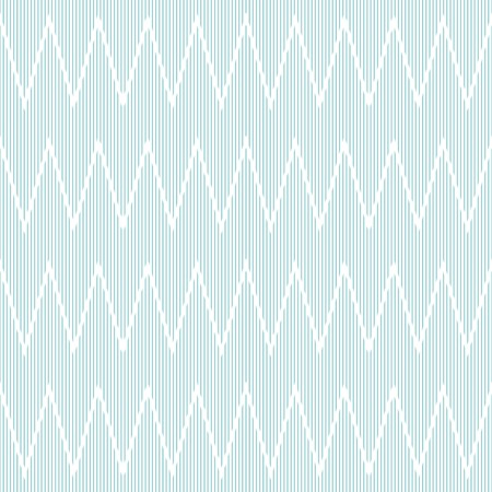 discontinuous: Elegant seamless striped pattern with horizontal zigzag. Thin discontinuous vertical lines form zig zag print. Delicate tracery in white and blue colors. Vector illustration