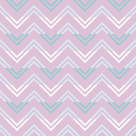 Modern seamless pattern of varicolored horizontal zigzag. Beautiful zig zag print in pink, blue, white colors. Vector illustration for various creative projects
