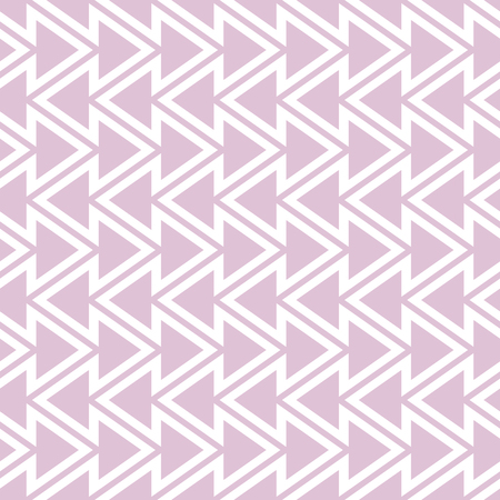 Elegant seamless pattern of vertical zigzag and triangles. Beautiful stylish zig zag print in white and pink colors. Vector illustration for various creative projects