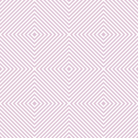 Abstract seamless geometric pattern of squares. Square frames of decreasing size placed one inside another forming continuous drawing. White and pink colors. Vector illustration Illustration
