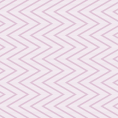 in flexed: Elegant seamless striped pattern with zigzag. Thin horizontal lines intersected by vertical zig zag. Beautiful tracery in white and pink colors. Vector illustration for various creative projects