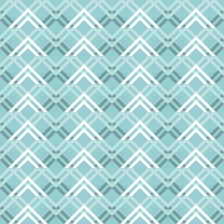 curvature: Abstract seamless geometric pattern with varicolored zigzag elements. Endless zig zag print in white and shades of blue colors. Modern tracery for stylish creative design. Vector illustration Illustration