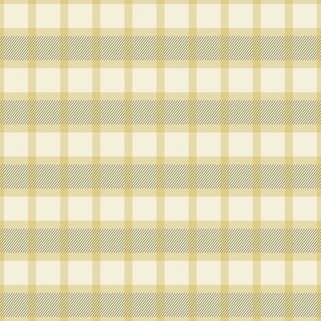 squares background: Elegant seamless checkered pattern in pleasant warm colors. Thin diagonal lines form plaid print. Square cells sand colored shades. Vector illustration for fabric, wrapping paper and other Illustration