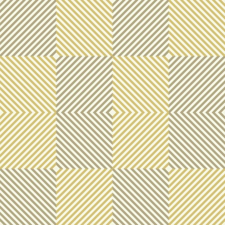 Abstract seamless pattern of squares. Square frames of decreasing size placed one inside another forming continuous drawing. Golden and sand colors. Beautiful elegant print. Vector illustration