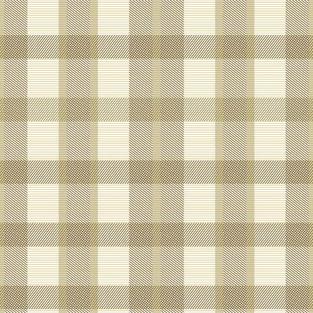pleasant: Elegant seamless checkered pattern in pleasant warm colors. Thin diagonal lines form plaid print. Square cells sand colored shades. Vector illustration for fabric, wrapping paper and other Illustration
