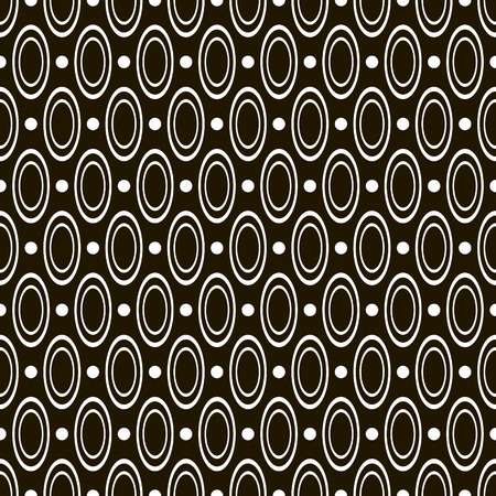 contrasty: Abstract seamless geometric black and white pattern of circles and hoops. Stylish contrasty print. Vector illustration for various creative projects Illustration