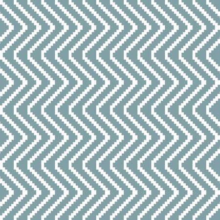muted: Seamless knitted pattern in white and muted blue colors. Stair step vertical zigzag. Elegant geometric print. Vector illustration for various creative projects