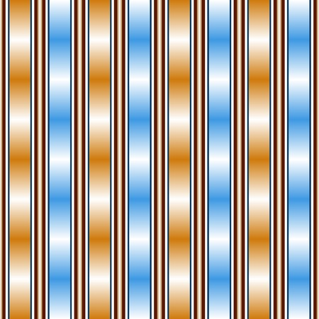 chatoyant: Abstract seamless pattern with beautiful gradient transitions. Round pillars and broad vertical stripes. Blue, orange, white, warm brown colors. Vector illustration for bright creative design