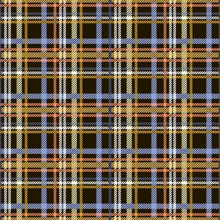 criss: Seamless checkered pattern. Colored diagonal lines form plaid print. Criss-crossed horizontal and vertical bands in multiple colors. Tartan ornament. Vector illustration for fabric, paper and other